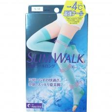슬림워크 수면용 압박스타킹 쿨타입 블루 (무릎 커버) S-M
